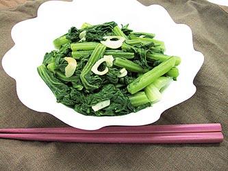 小松菜のにんにく炒め