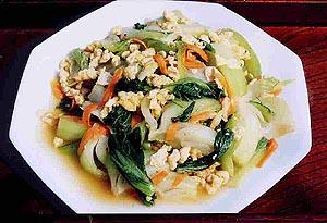 みどりちゃんの青梗菜の炒め物