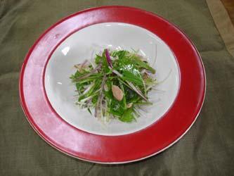 赤ねぎと水菜のサラダ