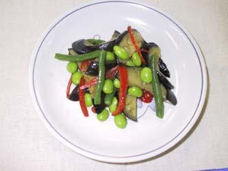 枝豆と夏野菜の炒め物